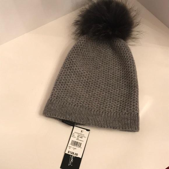 fbbd866700090a Raffaello Bettini Accessories | Cashmere Hat With Fur Pom Pom | Poshmark